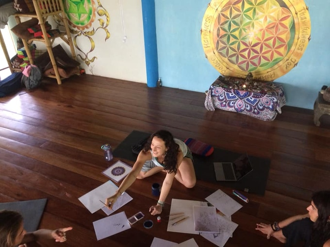 Tibetan Art Workshop by Alisa LoveSky @ Yoga & Healing Center, Koh Phangan, Thailand