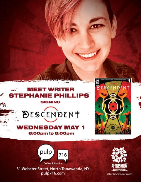 Stephanie will be signing at Pulp: 716 on May 1