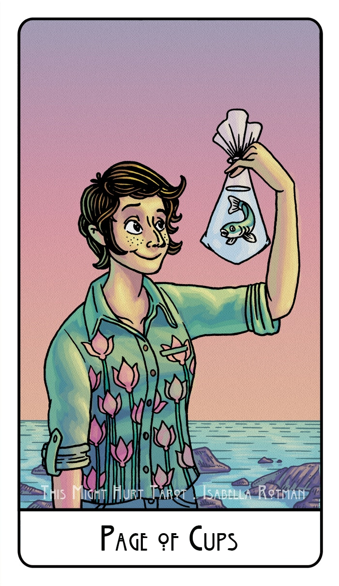 Page of Cups from This Might Hurt Tarot