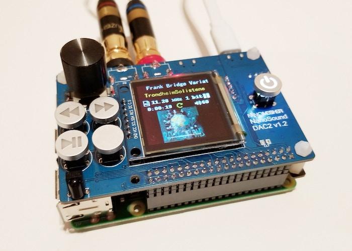 NanoSound DAC2 - 2nd Gen All-in-one Raspberry Pi Audio DAC