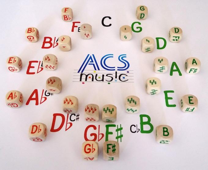 24 Music Dice (6 x 4 types)