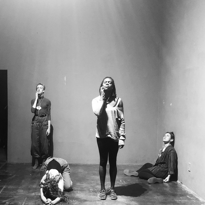 early rehearsals featuring Brighid Gallager, Gabriella Rhodeen, Jessica Emmanuel, and Mireya Lucio