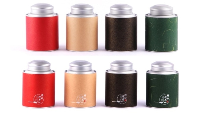 Tea canister — will be Taimat Tea branded