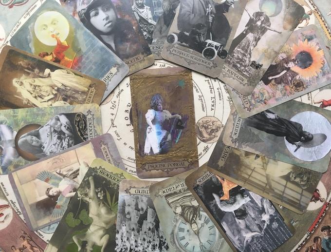 Clockwise from 12:00: Ancestors, Perfect Stranger, Mystic Rapture, Magical Child, Lunar Masculine, Lion Heart, Kindred Spirits, Keeper of Time, Group Mind, Green Goddess, Divine Messenger, Great Mother, Eternal Student, Boundaries, Astral Ascent