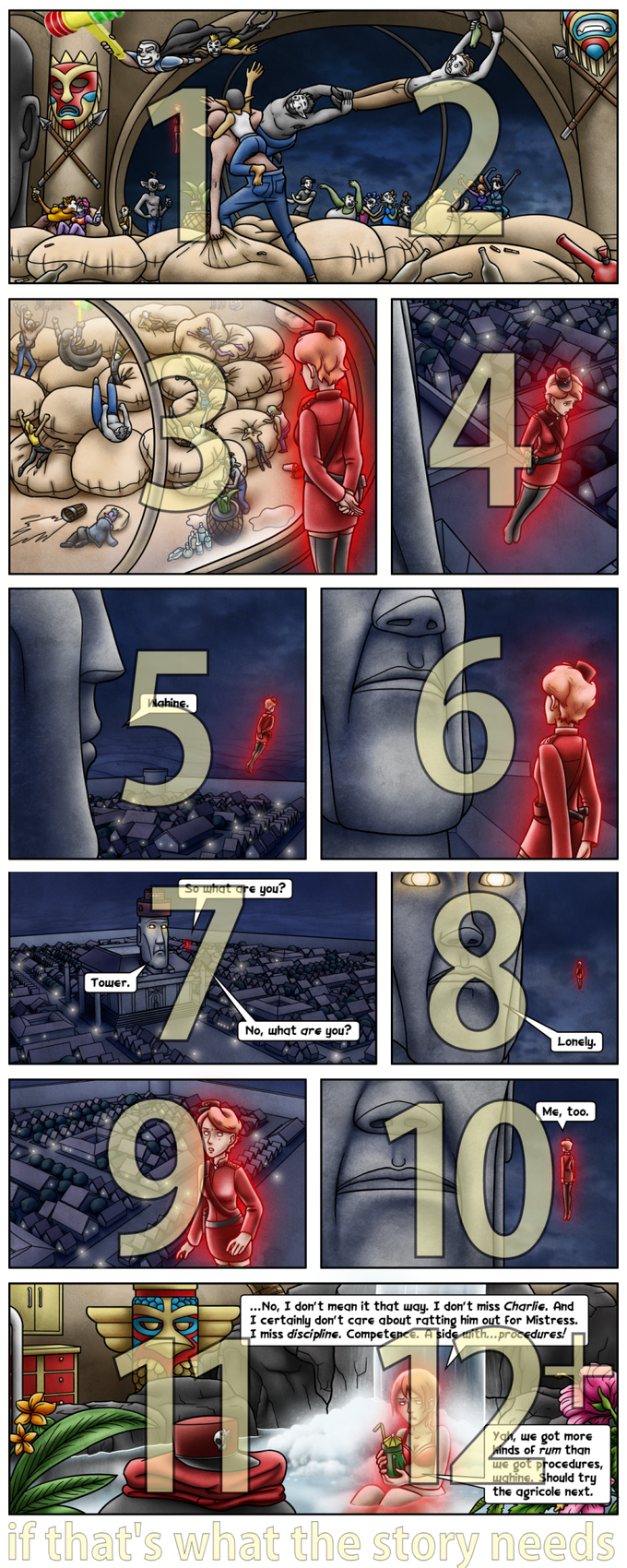 with modeled scenes, books 5+ generally can be double-page updates, each on a 6 panel grid