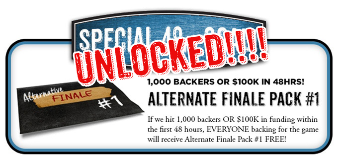 YOU DID IT! We unlocked the Alternate Finale Pack #1 for all Career backers!
