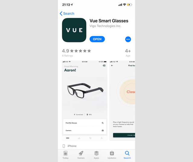 The iOS app store page