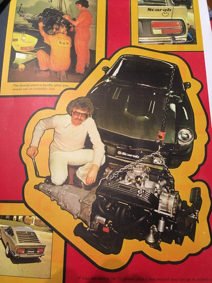 One of the original articles featuring the Scarab Z from Chevy Power magazine, August 1976
