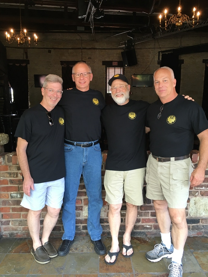 Randy, Scott, Keith, & Mike wearing their Scarab Z gear.