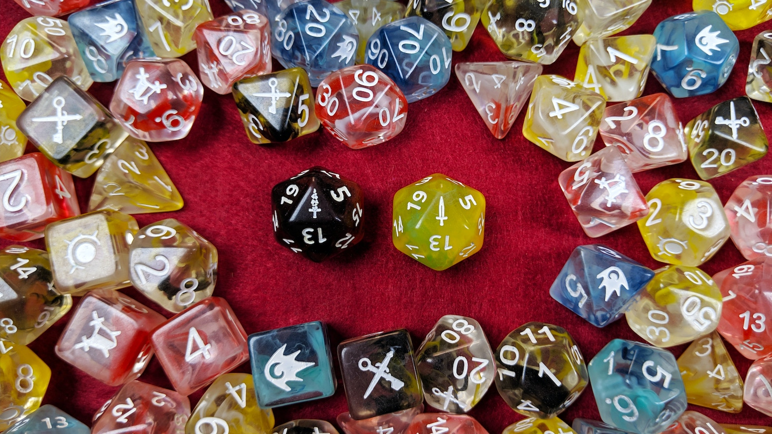 Dice sets inspired by the classic character classes from the most famous roleplaying games.