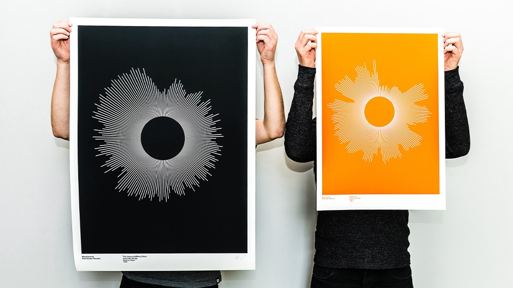 Waveform — customised one-of-a-kind music prints