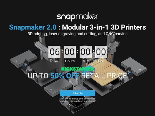 Snapmaker : The All-Metal 3D Printer by Snapmaker — Kickstarter
