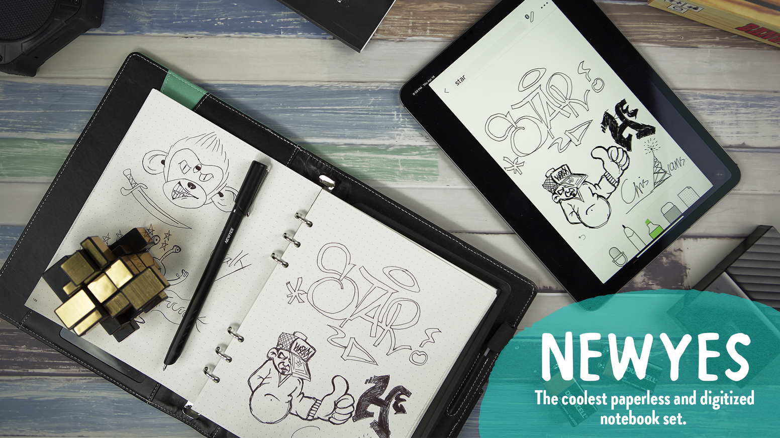Newyes: The Coolest Paperless and Digitized Notebook Set by