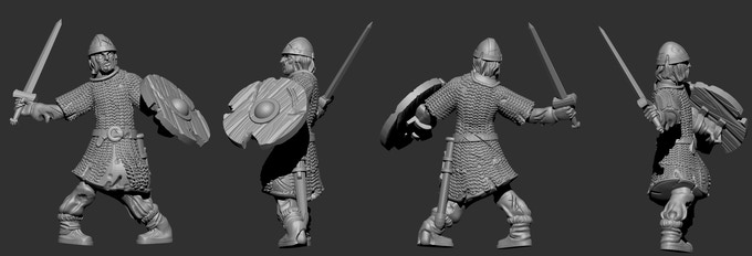 Preview of Anglo-Saxon Undead Sculpts