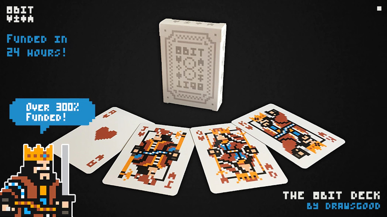The 8Bit Deck - A carefully crafted pixel art playing card deck with a palette inspired by the Pico-8 fantasy gaming console