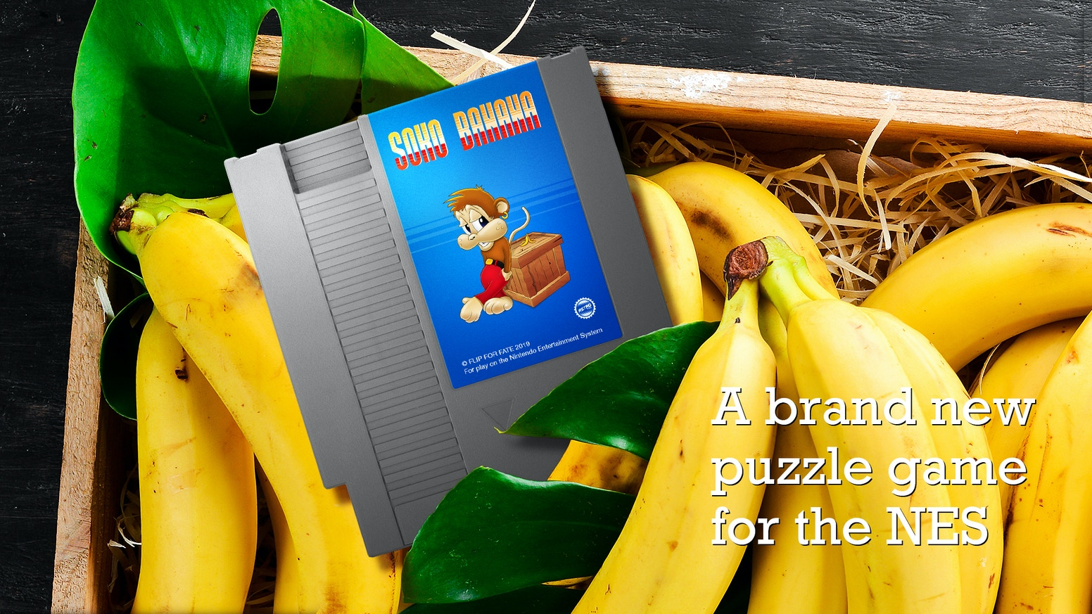 Soko Banana is a brand new puzzle game for the Nintendo Entertainment System. If you missed the Kickstarter campaign, the game is now up for pre-order: