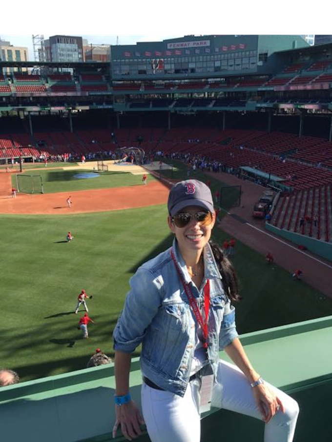 Michele at Fenway Park