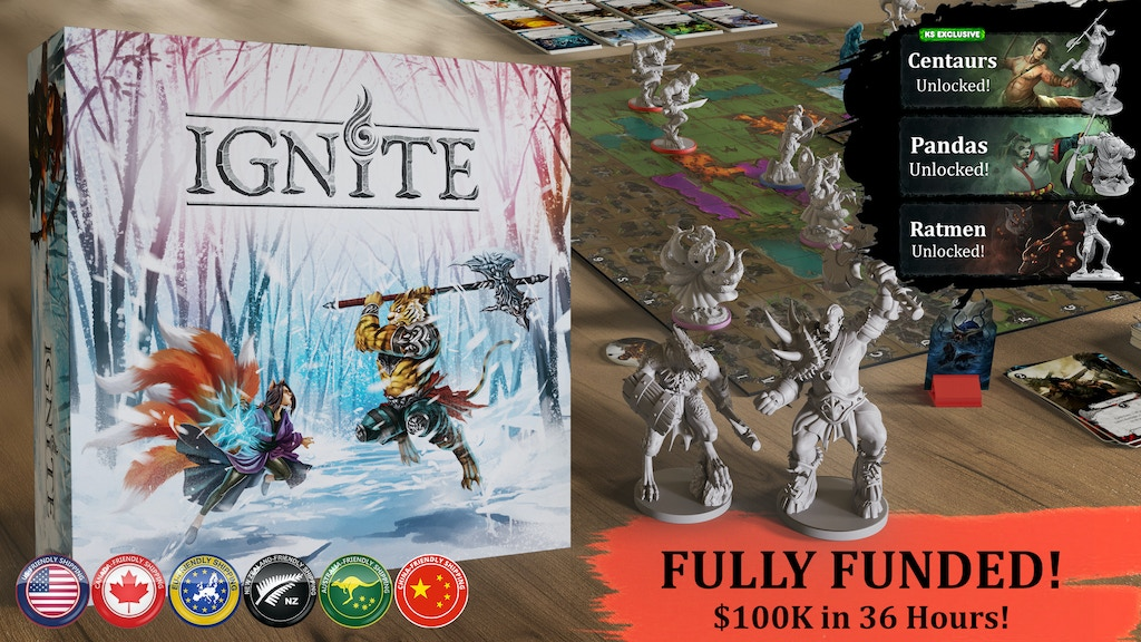 Ignite - Tabletop Miniatures Boardgame project video thumbnail