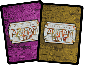 WIP Examples: Rear of the Relic and Magic Cards.