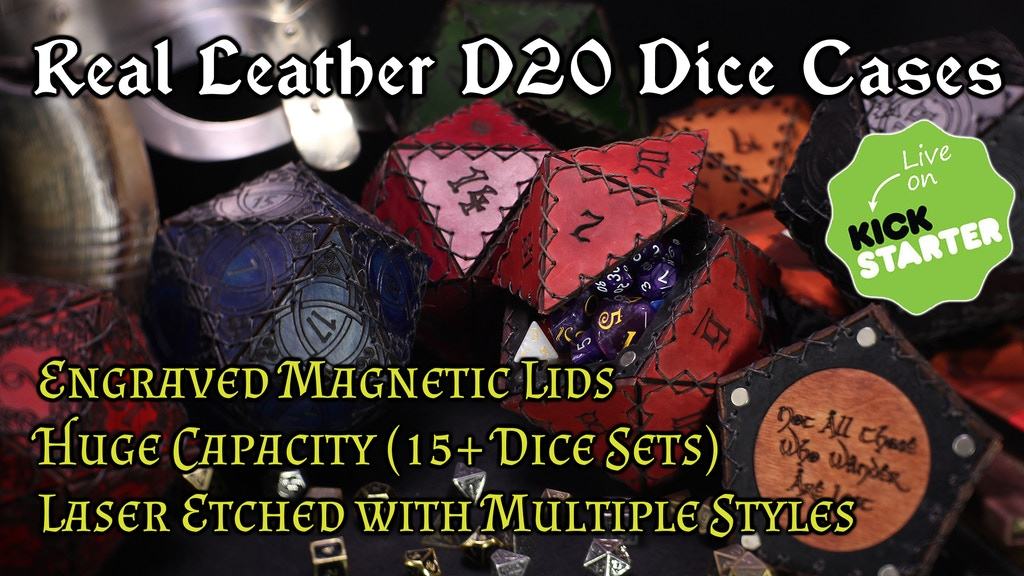 Engraved Leather D20 Dice Cases project video thumbnail