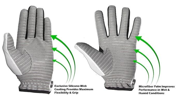 Golf Gloves - Amazing Grip, Breathable, Machine Washable!