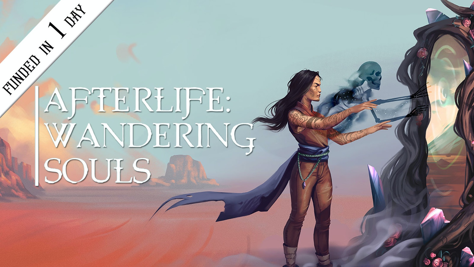 Afterlife: Wandering Souls is a tabletop RPG about recovering lost memories and exploring strange worlds.