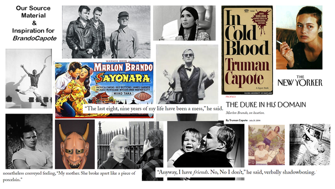 Our source material: The Brandos, Capotes, Hollywood, Noh, In Cold Blood, The Duke in His Domain, & much more...
