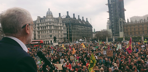 Jeremy Corbin announcing that the Climate Emergency Declaration had passed