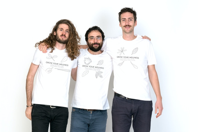 We Are Kigarden. From left to right: Marco, Giuseppe and Simone.