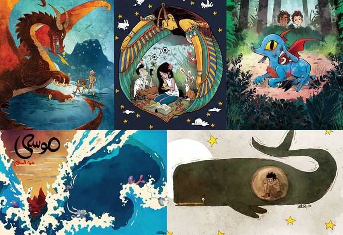 Some of Hatem's amazing illustrations for other projects