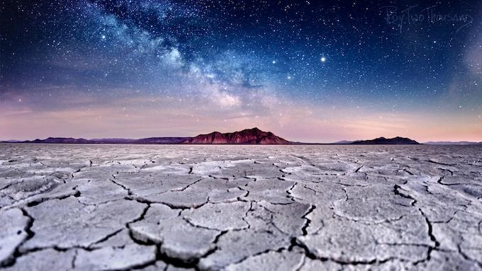 Razorback Milky Way Sunset