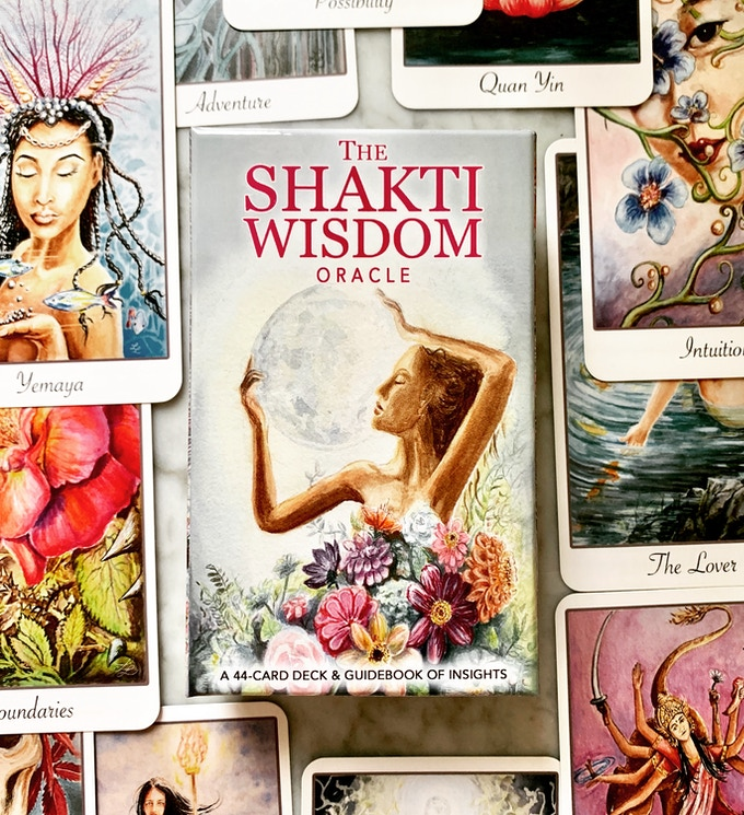 The Shakti Wisdom Oracle Deck. A 44 Card Deck & Guidebook of Insights.