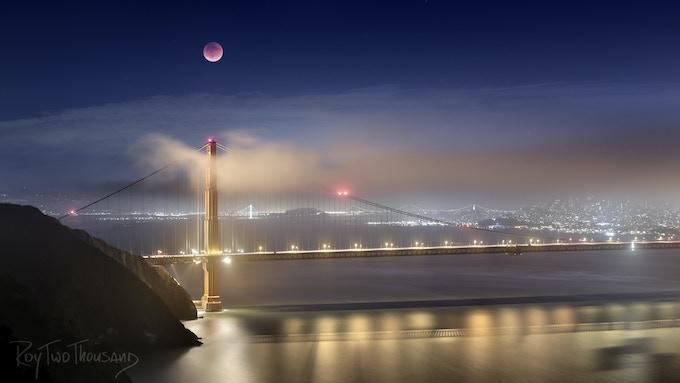 Golden Gate Lunar Eclipse