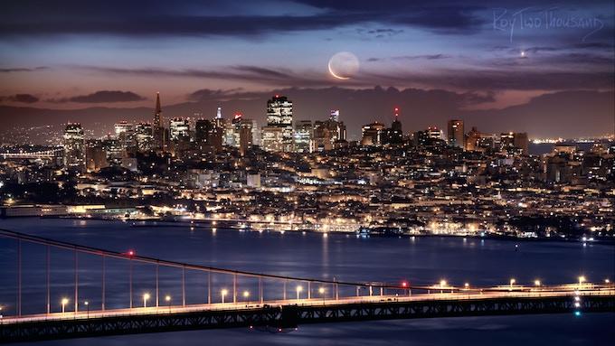 SF Crescent Moonrise
