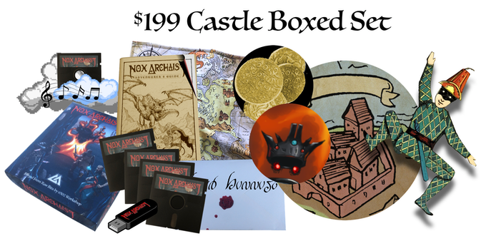 $199 Castle Boxed Set, includes Collector's Edition, name your own item, optional autographed map