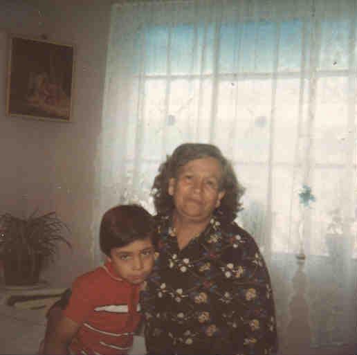 Mi tía, Raquel Nava Cienfuegos y yo.