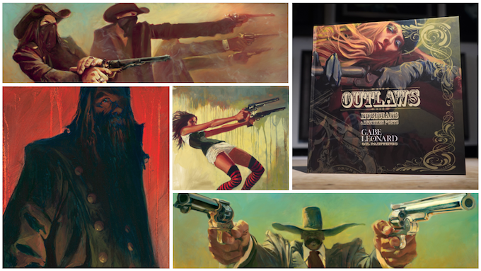 """""""Outlaws, Musicians and Drunken Poets"""" - Prototype Book w/ Featured Paintings"""