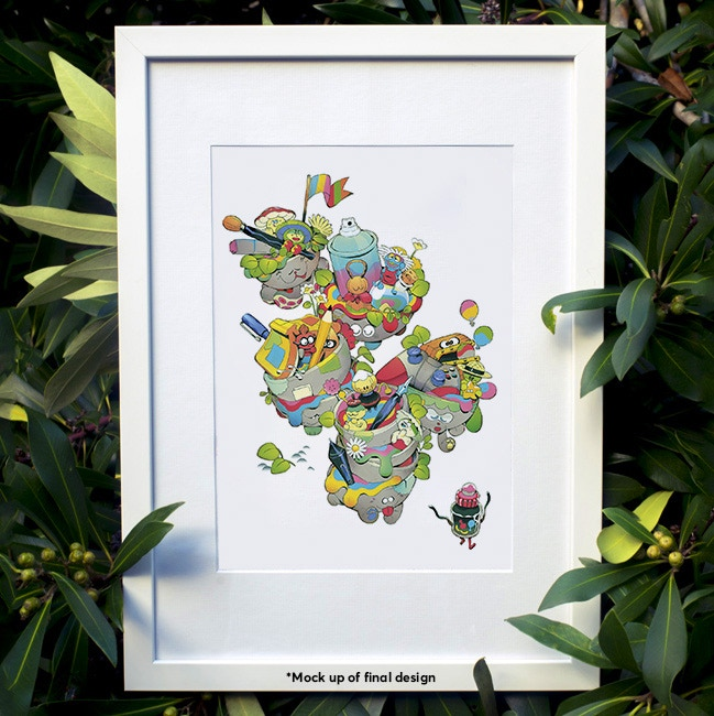 Chromacon 2019 festival art print by Tokinen