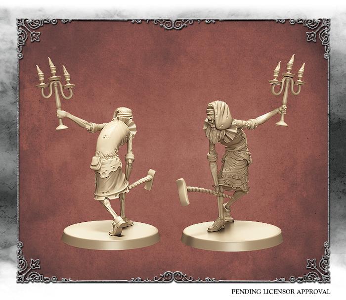 Elfenbein-3D-Rendering des Kain-Dieners. Von Edgar Ramos geformt.