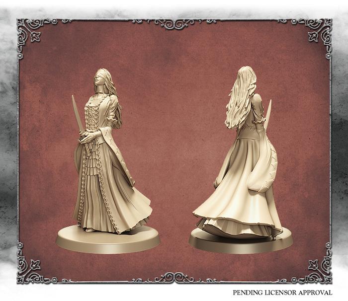 Ivory 3D rendering of the Forsaken Castle Spirit.  Sculpted by Edgar Ramos.