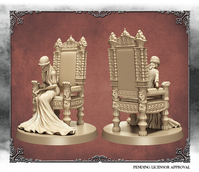 Ivory 3D render of Vileblood Queen Annalize.  Sculpted by Kévin Marks.
