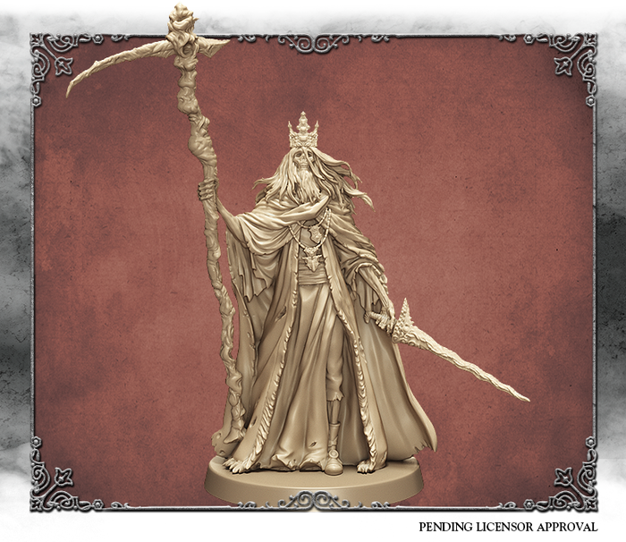 Ivory 3D rendering of Martyr Logarius, front view.  Sculpted by Michael Jenkins.