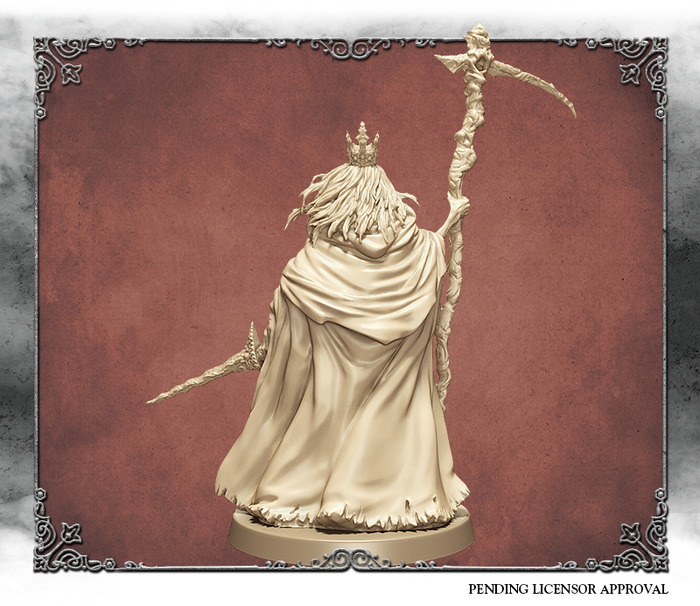 Ivory 3D rendering of Martyr Logarius, back view.