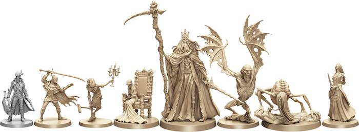 Scale comparison of the Forsaken Castle Cainhurst figures.