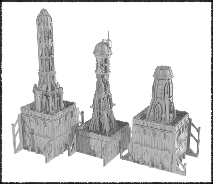 The STL files are designed to attach to our plastic terrain sets in a complementary manner.