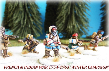 28mm-French & Indian War -'Winter Campaign British Regulars' by A G