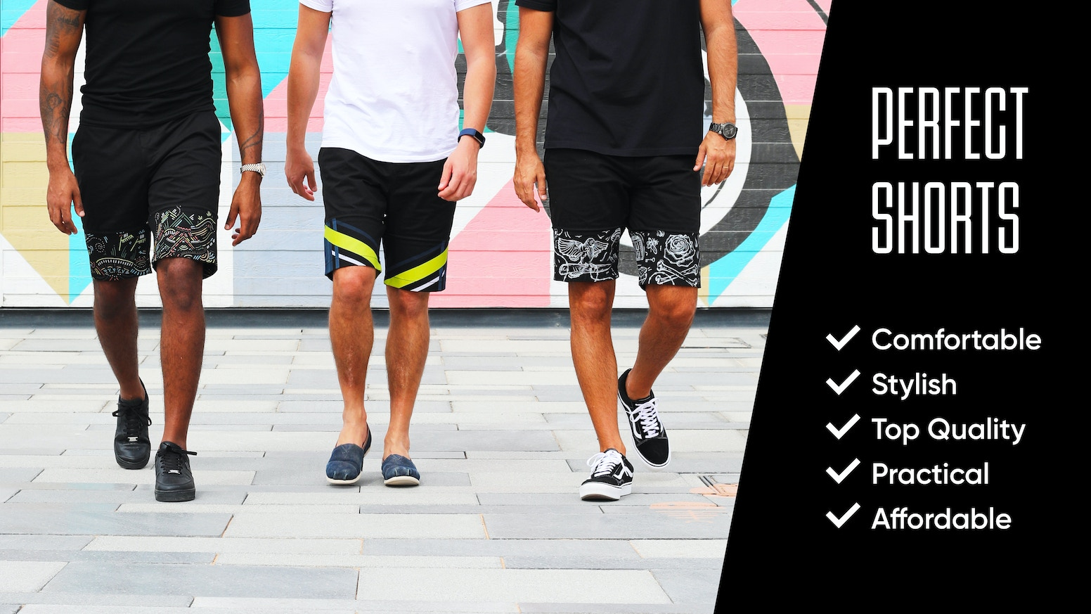 One pair of shorts, and an endless choice of sleeve designs that zip on or off, depending on your style and where you want to go.