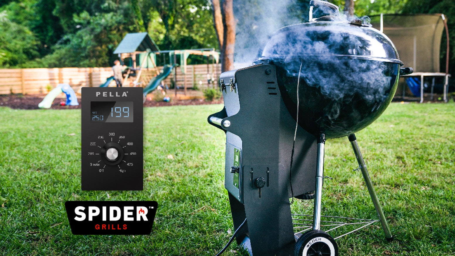 """An adapter that turns any Original Series 22"""" Weber Kettle Grill into a pellet grill in seconds. No tools or modifications required. We're fully backed but you can still get your Pella by clicking the button below."""