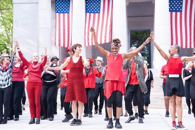 Finale of REVIVAL 2 at Grants Memorial Tomb, West Harlem