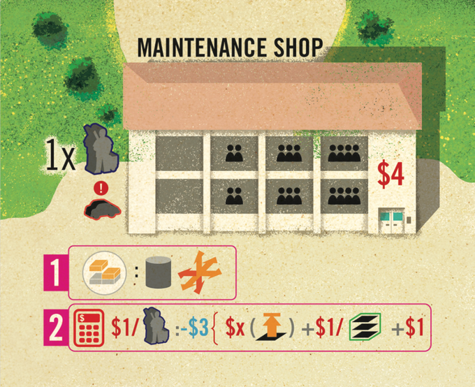 Maintenance shop from the expansion box